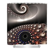 Fractal Contact Shower Curtain