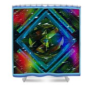 Fractal Cool Shower Curtain