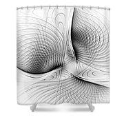 Fractal Design -bw 01-  Shower Curtain