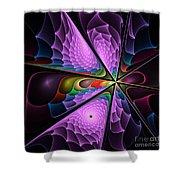 Fractal Design  -g- Shower Curtain