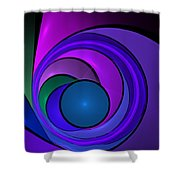 Fractal Design In Lilac, Pink And Blue Shower Curtain