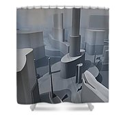 Fractal Factory Shower Curtain