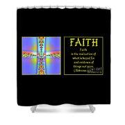 Fractal Faith Hebrews 11 Shower Curtain