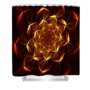 Fractal Floral 062610a Shower Curtain