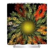 Fractal Floral 12-05-09 Shower Curtain