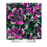 Fractal Floral Riot Shower Curtain