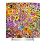 Fractal Floral Study 3 Shower Curtain