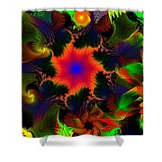 Fractal Garden 15 Shower Curtain