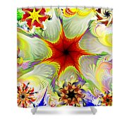 Fractal Garden 9 Shower Curtain