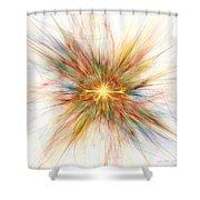 Fractal Genesis Shower Curtain