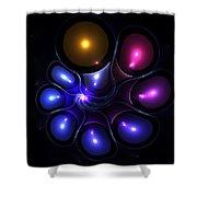 Fractal Jellyfish Shower Curtain