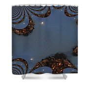 Fractal Moon Shower Curtain