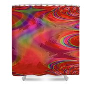 Fractal Red Shower Curtain