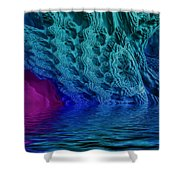 Fractal Reflections Shower Curtain