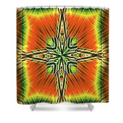 Fractal Reviews Shower Curtain