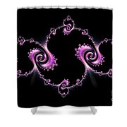 Fractal Spiral Shower Curtain