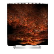 Fractal Sunset Shower Curtain