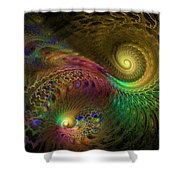 Fractal Swirls Shower Curtain