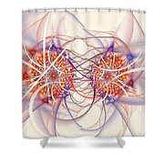 Fractal Synapse Shower Curtain