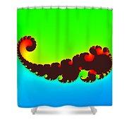 Fractal Trilobite Animal Shower Curtain