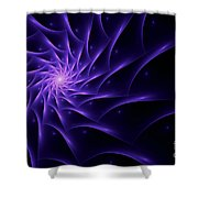 Fractal Web Shower Curtain