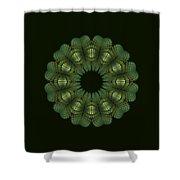 Fractal Wreath-32 Spring Green T-shirt Shower Curtain