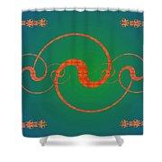 Fractal Yin And Yang Shower Curtain