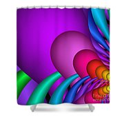 Fractalized Colors -1- Shower Curtain