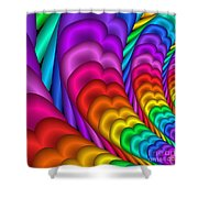 Fractalized Colors -10- Shower Curtain