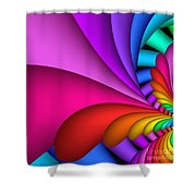 Fractalized Colors -2- Shower Curtain