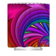 Fractalized Colors -3- Shower Curtain