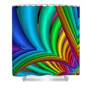 Fractalized Colors -4- Shower Curtain