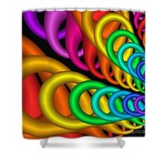 Fractalized Colors -5- Shower Curtain by Issabild -