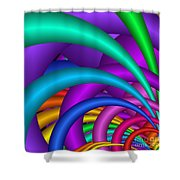 Fractalized Colors -6- Shower Curtain by Issabild -