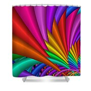 Fractalized Colors -7- Shower Curtain by Issabild -