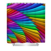 Fractalized Colors -8- Shower Curtain