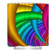 Fractalized Colors -9- Shower Curtain by Issabild -