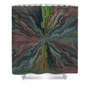 Fractured Frenzy Shower Curtain