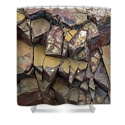 Fractured Layers Shower Curtain