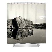 Fractured Rock Shower Curtain