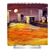 Fragile Structures Shower Curtain