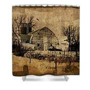 Fragmented Barn  Shower Curtain by Julie Hamilton