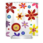 Fragrant Folly White Shower Curtain