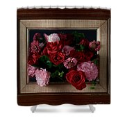 Framed Bouquet Of Flowers Shower Curtain