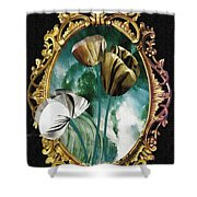 Framed Flowers Shower Curtain