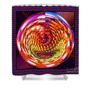 Framed Glass Spiral Shower Curtain