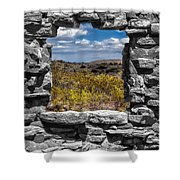 Framed In Black And White Shower Curtain