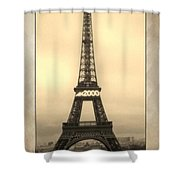 Framed In Paris  Shower Curtain