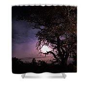 Framed Moon Shower Curtain