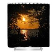 Framed Sunset Shower Curtain